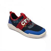 Кроссовки детские черные с синим Kids Swiftwater Easy-On Heathered Shoe