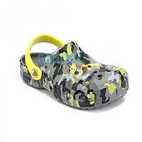 Детские сабо камуфляж Crocs Kids' Baya Seasonal Graphic Clog 27-28 (С10, 16,5см)
