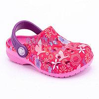 Розовые сабо для девочек Crocs Kids Baya Graphic Clogs
