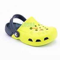 Детские желтые сабо CROCS Kids Electro Clog