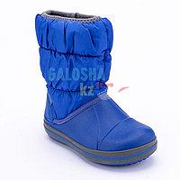 Детские синие сапоги CROCS Kids Winter Puff Boot