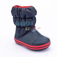 Детские темно-синие сапоги CROCS Kids Winter Puff Boot