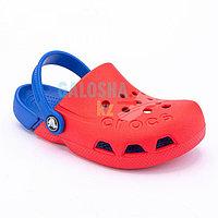 Детские красные сабо CROCS Kids Electro Clog 33-34 (J2)