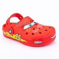 Красные сабо для мальчиков CROCS Kids' Fun Lab Disney and Pixar Cars Band Lights Clog