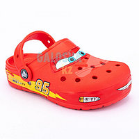 Красные сабо для мальчиков CROCS Kids' Fun Lab Disney and Pixar Cars Band Lights Clog 31-32 (J1)