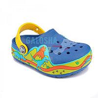 Синие сабо Crocs Lights Dinosaur Clog