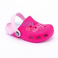 Детские розовые сабо CROCS Kids Electro Clog 31-32 (J1)