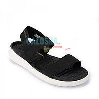 Черные босоножки Crocs Women's LiteRide Stretch Sandal