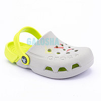 Детские серые сабо CROCS Kids Electro Clog 27 (C10)