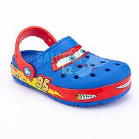 Синие сабо для мальчиков CROCS Kids' Fun Lab Disney and Pixar Cars Band Lights Clog 31-32 (J1)