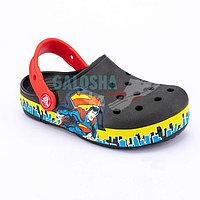 Черные сабо для мальчиков CROCS Kids' Crocband Fun Lab Superman Clog 33-34 (J2)