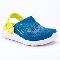 Детские сине-желтые сабо CROCS Kids LiteRide Clog 26 (С9)