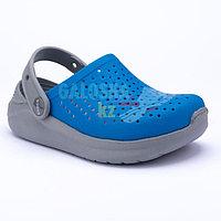 Детские сине-серые сабо CROCS Kids LiteRide Clog