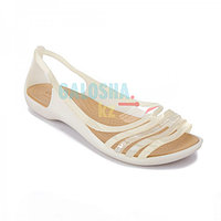 Женские сандалии белого цвета CROCS Women s Isabella Huarache Flat