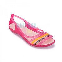 Женские сандалии розового цвета CROCS Women s Isabella Huarache Flat