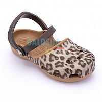 Леопардовый сандалии CROCS Karin Leopard Clog