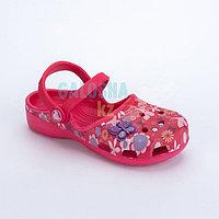 Малиновые сандалии для девочек CROCS Karin Butterfly Clog Girls Raspberry