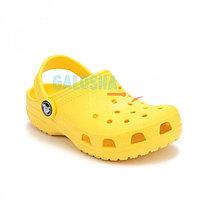 Детские желтые сабо CROCS Kids' Classic Clog 34-35 (М3/W5, стелька 22-22,5см)