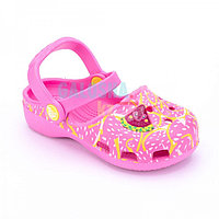 Розовый сандалии для девочек CROCS Karin Clog Watermelon Pink Girls