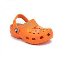 Детские оранжевые сабо CROCS Kids' Classic Clog 33-34 (М2/W4, стелька 21-21,5см)