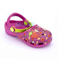 Фиолетовые сандалии для девочек CROCS Karin Small Strawberry Clog Girls