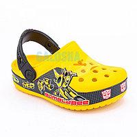 Желтые сабо для мальчиков CROCS Kids' Crocband Fun Lab Transformers Bumblebee Clog