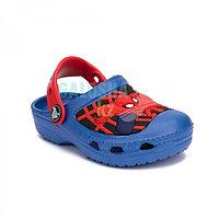 Детские синие сабо Kids' Creative Crocs Spider-Man Lights Clog