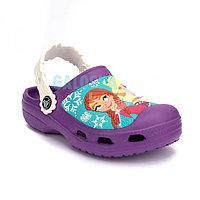 Детские фиолетовые сабо Kids' Creative Crocs Frozen Clogs Clog 25-26 (С8/С9)