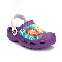 Детские фиолетовые сабо Kids' Creative Crocs Frozen Clogs Clog 31-32 (J1)