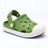 Детские зелено-белые сабо Crocs Kids' Bump It Clog 25 (C8)