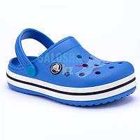 Детские ярко синие сабо CROCS Crocband clog 25-26 (8/C9)