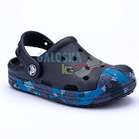 Детские камуфляж темно-синие сабо Crocs Kids' Bump It Clog