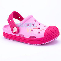 Детские розовые сабо Crocs Kids' Bump It Clog 31-32 (J1)