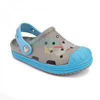 Детские серые сабо Crocs Kids' Bump It Clog