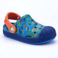 Детские синие сабо Crocs Bump It Sea Life Clog Kids