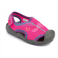 Детские розовые сандалии Crocs Kids Swiftwater Sandal 24 (С7)