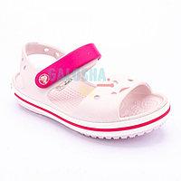 Детские светло-розовые сандалии CROCS Crocband Sandal Kids 34-35 (J3)