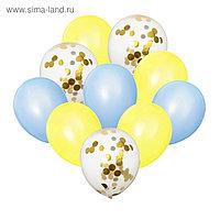 Букет из шаров «Нежность», латекс, с конфетти, набор 10 шт.