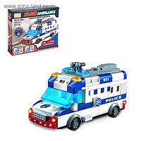 Конструктор блочный «Полицейский фургон», световые и звуковые эффекты, ездит, 48 деталей