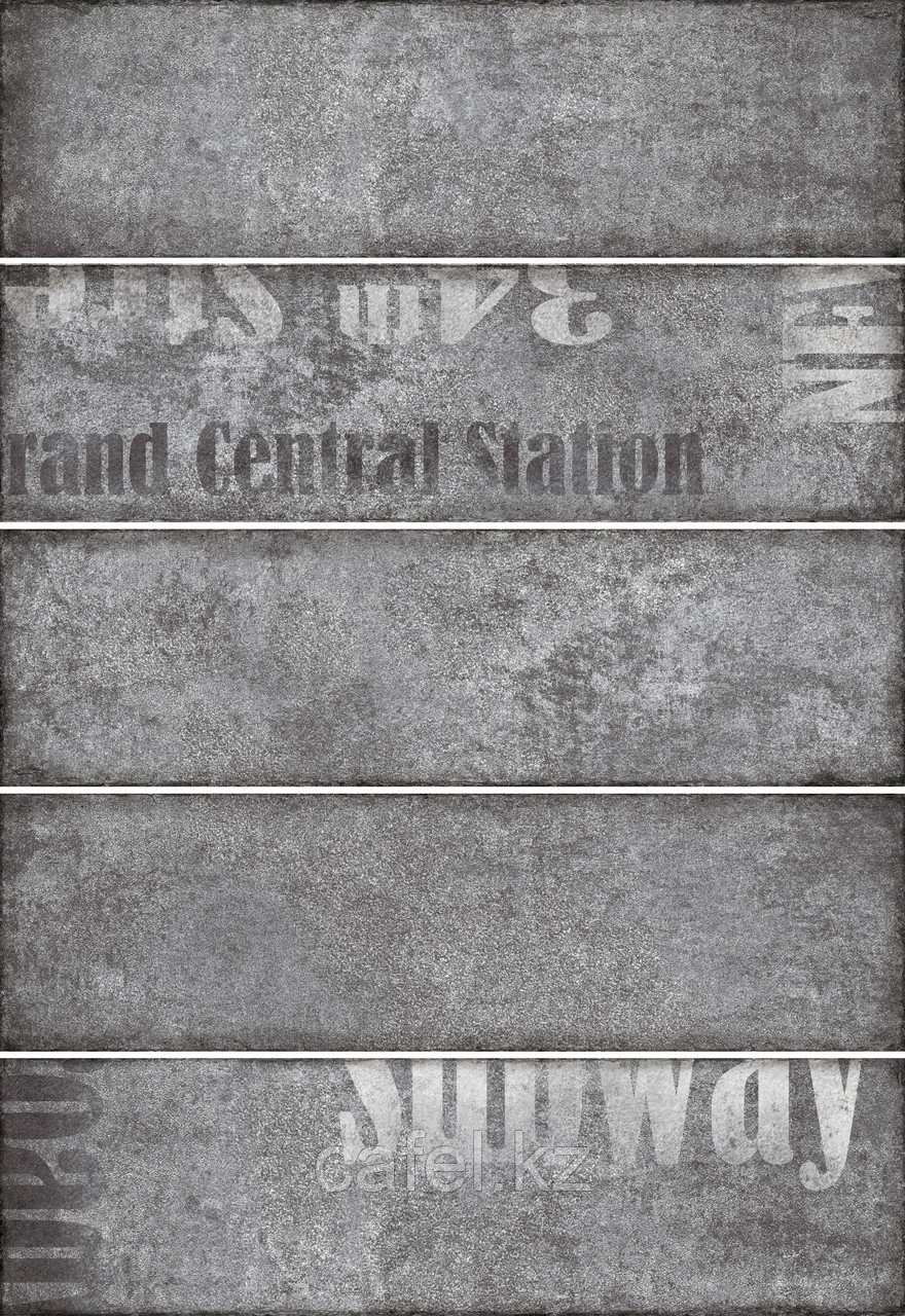 Кафель | Плитка настенная 28х40 Сабвей | Subway 2 Д темно-серый