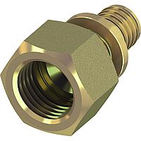 Соединение прямое с внутренней резьбой TECEflex, стандартная латунь
