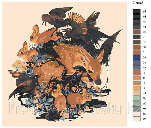 Картина по номерам красками 40х40см, фото 2
