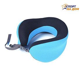 Ортопедическая подушка подголовник Афродита (цвет - синий)