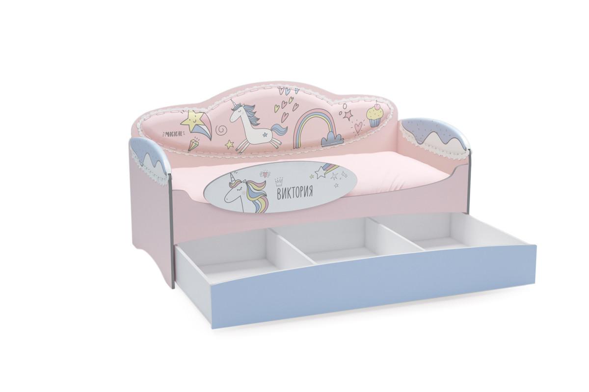 Диван-кровать для девочек Mia Unicorn - фото 1
