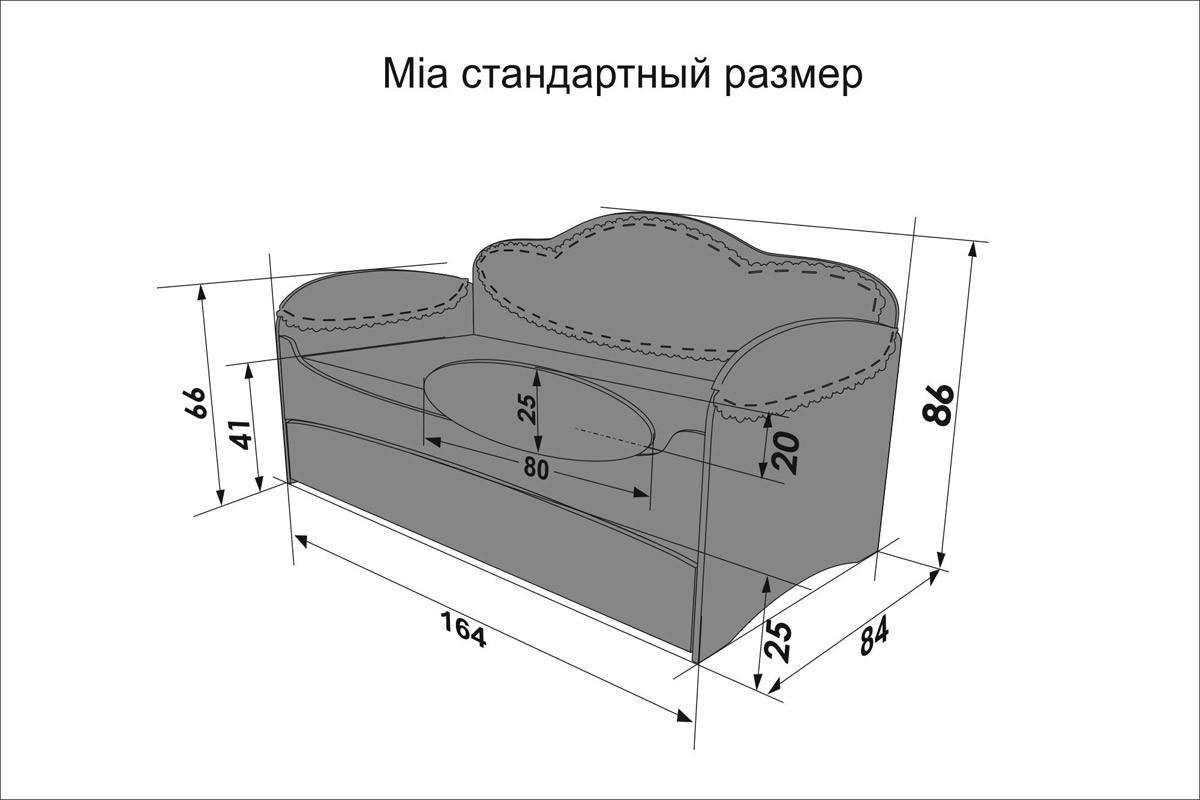 Диван-кровать для девочек Mia Unicorn - фото 4