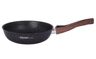 """Сковорода со съемной ручкой 220 мм, """"Granit ultra"""" (blue)"""
