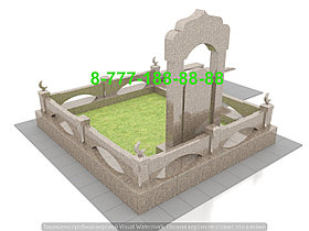 Оградки из гранита на могилу, фото 2