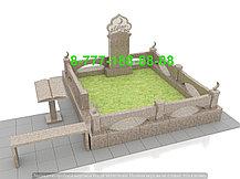Оградка из камня на кладбище, фото 2