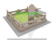 Оградка из камня на кладбище, фото 3