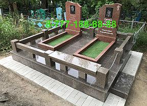 Оградки из гранита на кладбище, фото 2